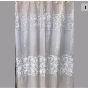 Other - White fabric shower curtain